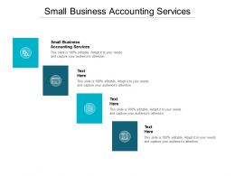 Small Business Accounting Services Ppt Powerpoint Presentation File Smartart Cpb