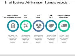 Small Business Administration Business Aspects Financial Management Strategy Information Cpb