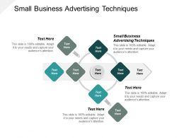 Small Business Advertising Techniques Ppt Powerpoint Presentation Slides Mockup Cpb