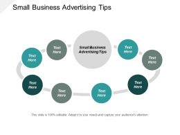 Small Business Advertising Tips Ppt Powerpoint Presentation Slides Objects Cpb