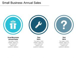 Small Business Annual Sales Ppt Powerpoint Presentation Slides Grid Cpb
