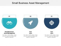 Small Business Asset Management Ppt Powerpoint Presentation Show Slideshow Cpb
