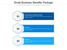 Small Business Benefits Package Ppt Powerpoint Presentation Professional Aids Cpb