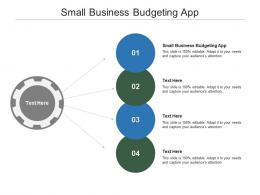 Small Business Budgeting App Ppt Powerpoint Presentation Outline Graphics Cpb