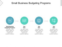 Small Business Budgeting Programs Ppt Powerpoint Presentation Show Smartart Cpb