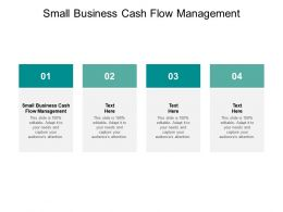 Small Business Cash Flow Management Ppt Powerpoint Presentation Icon Slides Cpb