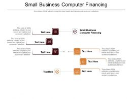 Small Business Computer Financing Ppt Powerpoint Presentation Icon Information Cpb
