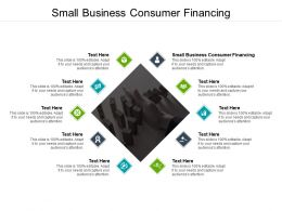 Small Business Consumer Financing Ppt Powerpoint Presentation Outline Visuals Cpb