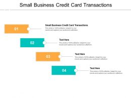 Small Business Credit Card Transactions Ppt Powerpoint Presentation Slides Show Cpb