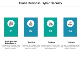 Small Business Cyber Security Ppt Powerpoint Presentation File Information Cpb