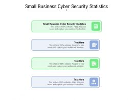 Small Business Cyber Security Statistics Ppt Powerpoint Presentation Example Cpb