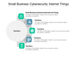 Small Business Cybersecurity Internet Things Ppt Powerpoint Presentation Brochure Cpb