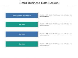 Small Business Data Backup Ppt Powerpoint Presentation Model Inspiration Cpb