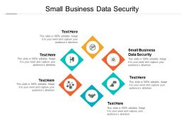 Small Business Data Security Ppt Powerpoint Presentation Show Brochure Cpb