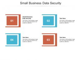 Small Business Data Security Ppt Powerpoint Presentation Show Format Cpb