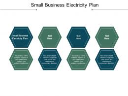 Small Business Electricity Plan Ppt Powerpoint Presentation File Inspiration Cpb