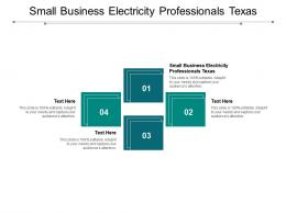 Small Business Electricity Professionals Texas Ppt Powerpoint Presentation Model Cpb