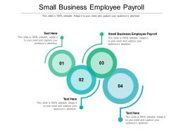 Small Business Employee Payroll Ppt Powerpoint Presentation Gallery Outline Cpb