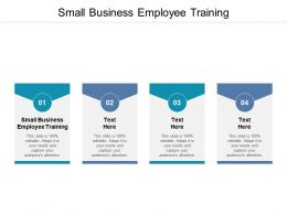 Small Business Employee Training Ppt Powerpoint Presentation Inspiration Graphics Cpb