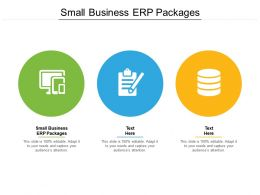 Small Business ERP Packages Ppt Powerpoint Presentation Icon Layouts Cpb