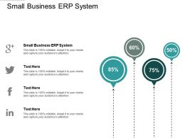 Small Business Erp System Ppt Powerpoint Presentation Portfolio Graphics Example Cpb