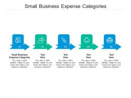 Small Business Expense Categories Ppt Powerpoint Presentation Styles Information Cpb