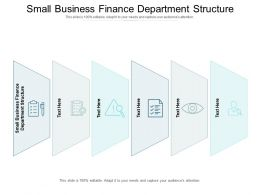 Small Business Finance Department Structure Ppt Powerpoint Presentation Summary Gridlines Cpb