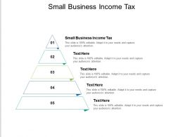 Small Business Income Tax Ppt Powerpoint Presentation File Icon Cpb