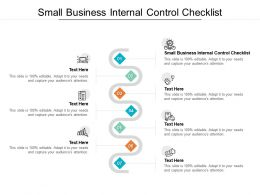 Small Business Internal Control Checklist Ppt Powerpoint Presentation Outline Design Ideas Cpb