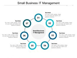 Small Business IT Management Ppt Powerpoint Presentation Slides Format Cpb