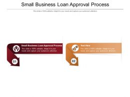 Small Business Loan Approval Process Ppt Powerpoint Presentation Infographic Template Cpb