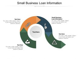Small Business Loan Information Ppt Powerpoint Presentation Pictures Templates Cpb