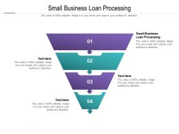 Small Business Loan Processing Ppt Powerpoint Presentation Outline Maker Cpb