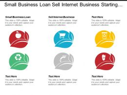 Small Business Loan Sell Internet Business Starting Business Working Environment