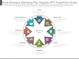 Small Business Marketing Plan Diagram Ppt Powerpoint Guide