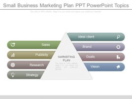 Small Business Marketing Plan Ppt Powerpoint Topics
