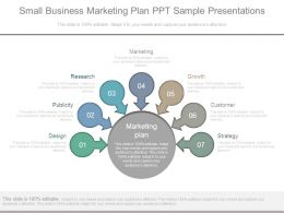 Small Business Marketing Plan Ppt Sample Presentations