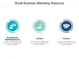 Small Business Marketing Resource Ppt Powerpoint Presentation File Graphics Download Cpb