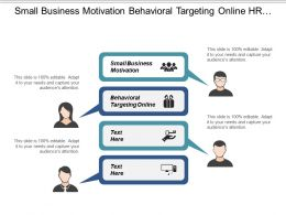 Small Business Motivation Behavioral Targeting Online Hr Department Cpb