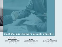Small Business Network Security Checklist Ppt Powerpoint Presentation Portfolio Master Slide Cpb