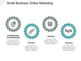 Small Business Online Marketing Ppt Powerpoint Presentation Slides Skills Cpb