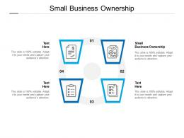 Small Business Ownership Ppt Powerpoint Presentation Styles Master Slide Cpb