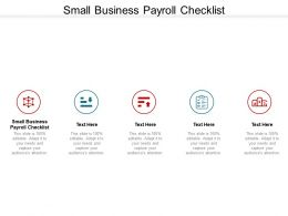 Small Business Payroll Checklist Ppt Powerpoint Presentation Gallery Samples Cpb