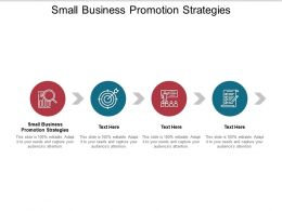 Small Business Promotion Strategies Ppt Powerpoint Presentation File Cpb