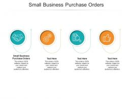 Small Business Purchase Orders Ppt Powerpoint Presentation Inspiration Cpb