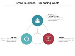 Small Business Purchasing Costs Ppt Powerpoint Presentation Pictures Files Cpb