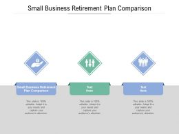 Small Business Retirement Plan Comparison Ppt Powerpoint Presentation Professional Cpb