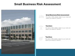 Small Business Risk Assessment Ppt Powerpoint Presentation Summary Show Cpb