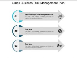 Small Business Risk Management Plan Ppt Powerpoint Presentation Slides Layout Ideas Cpb