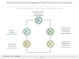 Small Business Risk Management Powerpoint Slide Deck Samples